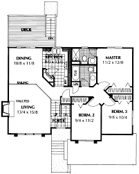 Barton Point Split Level Home Plan D    House Plans and MoreSouthern House Plan First Floor   D    House Plans and More