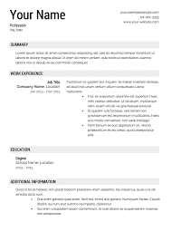 resume templates resume template 12 stunning resume template
