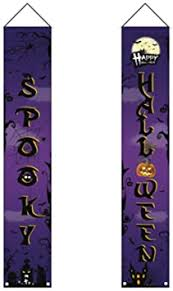 NUOBESTY <b>Halloween Door Banner</b> Outdoor Hanging Flag Novel ...