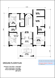 Kerala model villa plan   elevation   Sq  Feet   Kerala    Kerala villa plan and elevation   Sq  Feet   Ground Floor