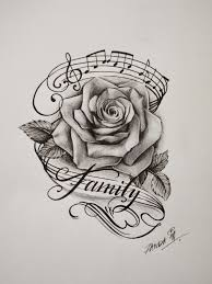 <b>rose tattoo</b> drawing <b>Music Tattoo</b>