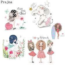 <b>Prajna Fashion Beauty Girl</b> Unicorn Heat Transfers Ironing Stickers ...