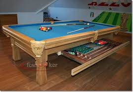 blue pool snooker table