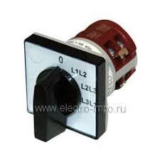 А9151. <b>Выключатель</b> кулачковый 4G10-67U 10А <b>4 положения</b> для ...
