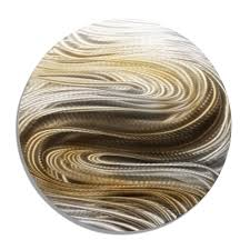 home decor plate x: aurora stream brown silver amp brown contemporary round metal wall art by jon allen quot x quot