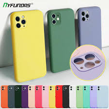 Multi-color <b>Soft Liquid Silicone Phone</b> Cases For Apple iPhone 11 ...