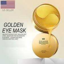 USA <b>60Pcs Gold</b> Hydrogel <b>Eye Patch Eye Mask Collagen</b> Gel Under ...