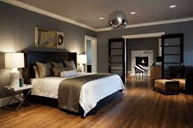 contemporary bedroom ceiling lighting using recessed light fixtures above drum lamp shades over rectangle serving tray bedroom ceiling lighting