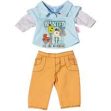 <b>Zapf Creation</b> Baby born <b>Одежда стильная</b> для мальчика (желтые ...