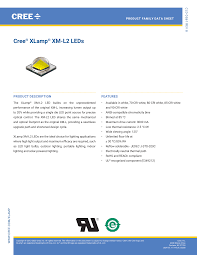 Cree XLamp XM-<b>L2</b> LED Data Sheet