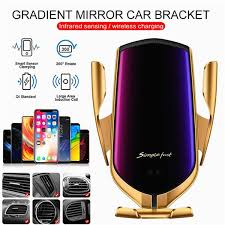 Intelligent Wireless Car Charger Phone Holder Qi Fast Charging ...