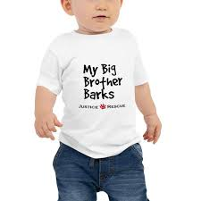 My Big Brother Barks <b>Baby</b> Jersey <b>Short Sleeve</b> Tee – Justice Rescue