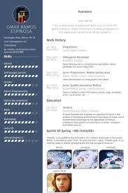 programmer resume samples game programmer resume