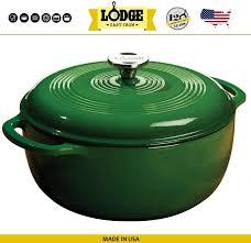 <b>Кастрюля</b>-жаровня <b>эмалированная</b>, <b>5.7 л</b>, D 28 см, зеленый ...