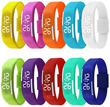 Tocosy Silicone <b>Bracelet</b> Ultra Thin <b>LED Digital Watch</b> Adjustable ...