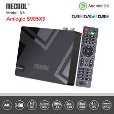 Amlogic S905X3 <b>Mecool K5</b> DVB S2 <b>DVB T2</b> Android 9.0 Quad ...