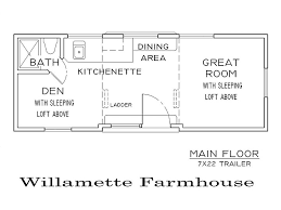 Willamette Farmhouse    This is one of many floor plans we can design for your tiny house