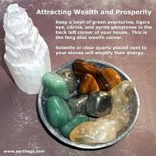 wealth prosperity keep a bowl of green adventurine tigers eye citrine and pyrite gemstones in the bacl left corner of your house this is the feng shui feng shui quick spells