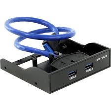 """Планка портов на переднюю панель 3.5"""" USB 3.0 20pin -> 2x A ..."""