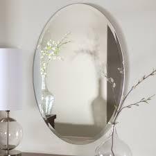 frameless wall mounted bathroom mirror