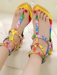 Wholesale <b>Bohemian Style</b> Women Sandals <b>New Fashion</b> Rainbow ...