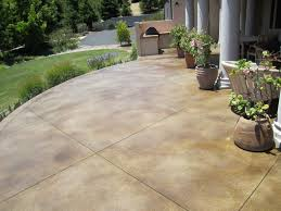 concrete patio stained company
