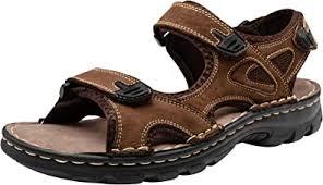 JOUSEN Men's Sandals Leather Open Toe Beach ... - Amazon.com