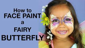 How To Face Paint: <b>Butterfly Fairy</b> Princess & <b>Costume</b> - YouTube