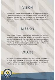 mission statement asia pacific college mission statement
