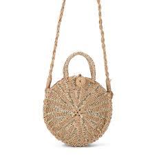 <b>Women</b> Chic <b>Handmade Rattan</b> woven Round <b>Handbag</b> Vintage ...