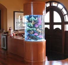 inspiring rounder pillar aquarium design for living room entrance door home decor on decorating beautiful living room pillar