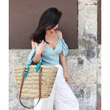 NEW Women <b>Handbag</b> Summer Beach <b>Tote Bag Handmade</b> Rattan ...