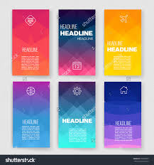templates design set web mail brochures stock vector 252860899 templates design set of web mail brochures mobile technology and