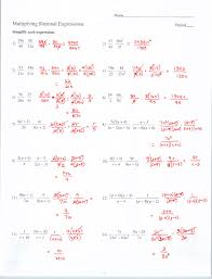 Multiplying And Dividing Radical Expressions Worksheet - IntrepidpathGrade 11 Pre Calculus Mundlecl Algebra 1 Worksheets Rational Expressions Worksheet 8 Simplify Multiply Divide