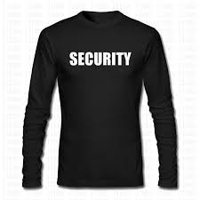 Fashion Security Guard Staff Police T Shirt <b>Men Women</b> Event Party ...