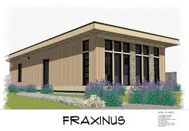 Free House Plans   THE small HOUSE CATALOG   Fraxinus Modern Shed Roof Style House Plan  Free Download