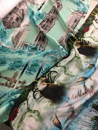 new designer silks the bold the beautiful and the bizarre i just know i m going to see this one on the runway soon it s the kind of off the wall print that raises a hundred questions and gives no answers