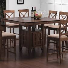 counter height storage dining table