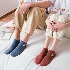 1 Pair <b>Couple Socks</b> Summer Cotton Cartoon Embroidered Boat ...