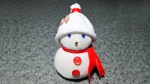 Снеговик из <b>носка</b> за 5 минут без шитья. Поделки на Новый Год ...