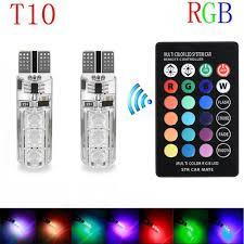 <b>2PCS</b> Universal Car <b>RGB LED</b> 12V T10 <b>LED RGB 5050 6SMD</b> ...