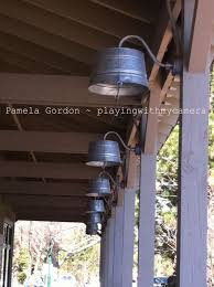 love these washtub lights for the porch barn lighting create rustic