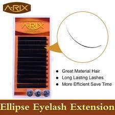 freeshipping 0 15th all size mix color professional individual two tone silk false eyelash extension black eyelashes