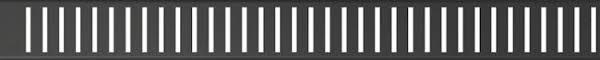 <b>Декоративная решетка 744 мм</b> AlcaPlast Pure Black черный ...