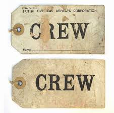 BOAC <b>CREW</b> Luggage <b>label</b>