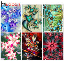 Huacan 5д <b>алмазная мозаика живопись</b> цветы алмазная ...