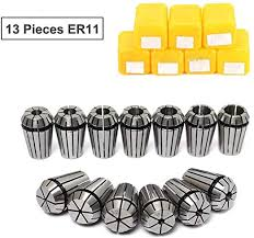 ER11 Collet Set, 13PCS ER11 Collet Chuck <b>CNC Spindle ER</b>-11 ...