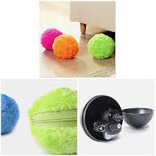 Roller Cat <b>Toy Automatic</b> Ball <b>Dog Toy</b> Mop Dust Fluffy <b>Pet</b> Mini ...