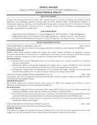 senior financial analyst resume samples resume format  senior financial analyst resume samples