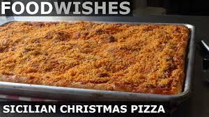 Sicilian Christmas Pizza (Sfincione) - Food Wishes - YouTube